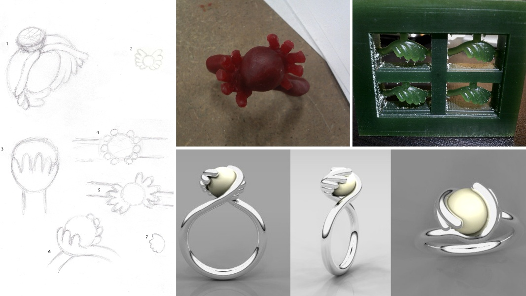 20_ujo_rocks_bespoke_sterling_silver_ring_with_tension_set_pearl_progress_from_sketches_to_rendering_and_milling