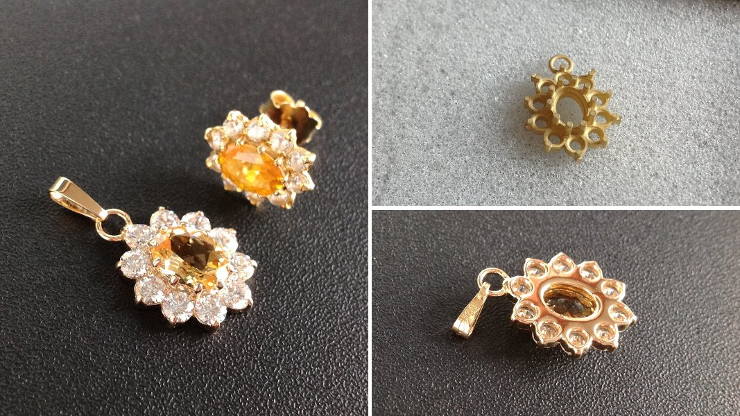 26_ujo_rocks_bespoke_18k_gold_halo_pendant_yellow_topaz_cubic_zirconias_after_casting_and_backside