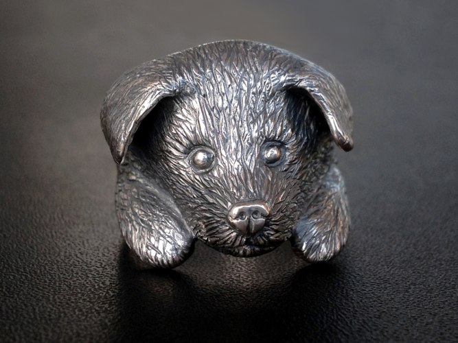 32_ujo_rocks_bespoke_sterling_silver_puppy_ring_handcarved_from_wax_thumbnail