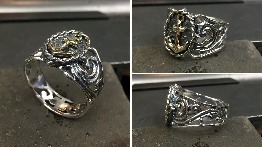 47_ujo_rocks_bespoke_handmade_sterling_silver_and_gold_anchor_ring_oxidized