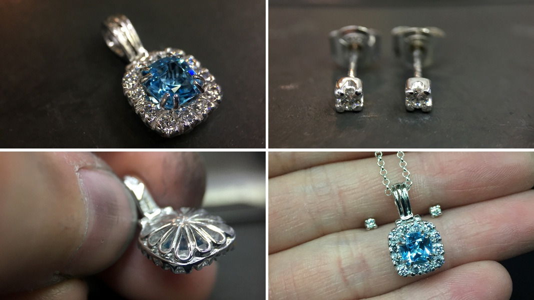56_ujo_rocks_handmade_sterling_silver_topaz_and_cubic_zirconia_halo_pendant_and_earring_studs_polished