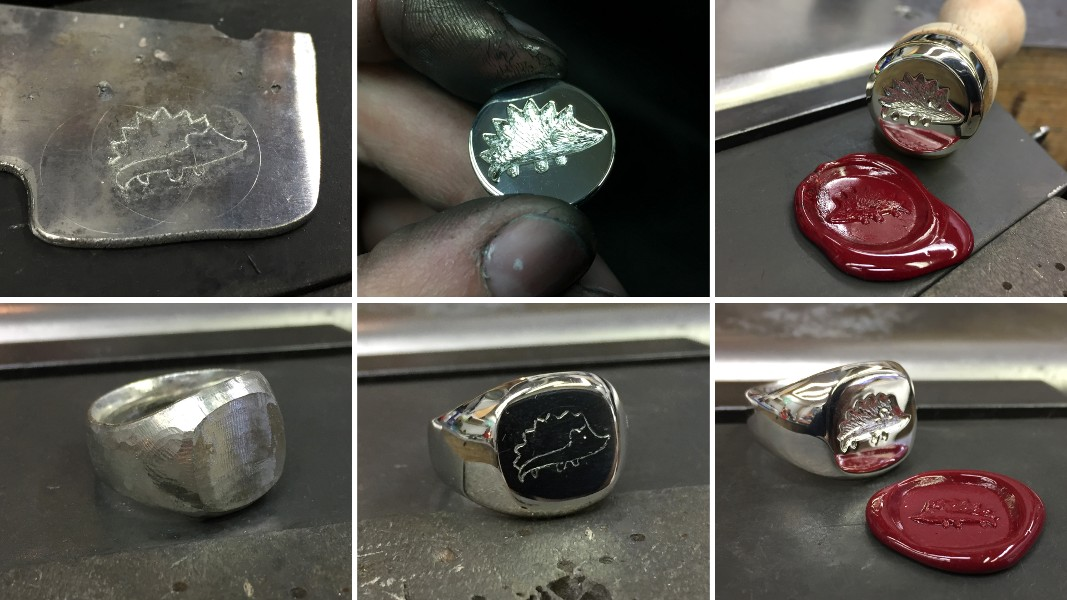 60_ujo_rocks_handmade_sterling_silver_hedgehog_wax_seal_ring_and_stamp_progress_pics