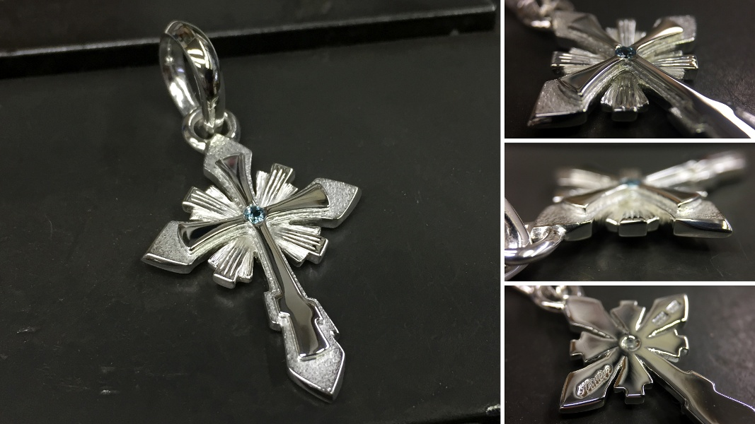 61_ujo_rocks_bespoke_handmade_sterling_silver_orthodox_cross_pendant_with_topaz_polished_and_frosted_finish