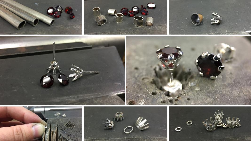 64_ujo_rocks_bespoke_handmade_sterling_silver_three_stone_garnet_necklace_and_earring_studs_progress_pics