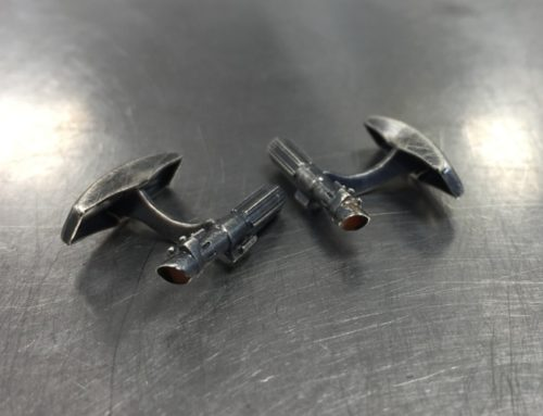 Lightsaber cufflinks