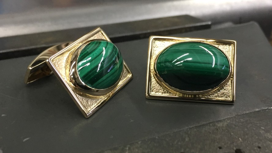 72_ujo_rocks_bespoke_handmade_14k_yellow_gold_cufflinks_with_malachite_thumbnail_wide