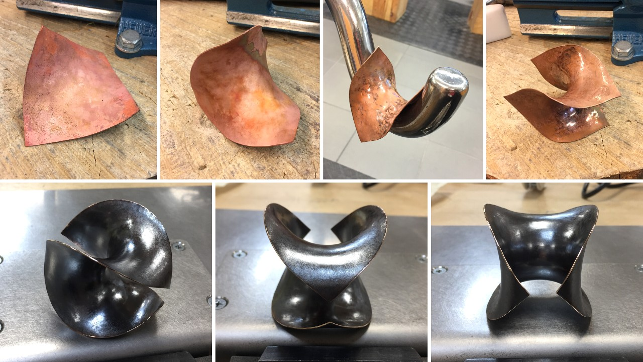 75_ujo_rocks_handmade_anticlastic_raising_bronze_sculpture_hyperbolic_paraboloid_hammered_oxidised_progress_pics